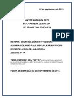 El Texto Sobre Educacion