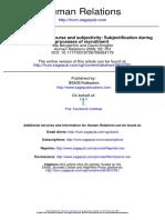Organizational discourse and subjectivity