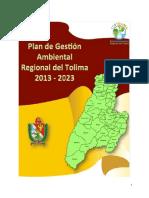 Plan de Gestion Ambiental Del Tolima 2013_2023_TOLIMA_01!12!12