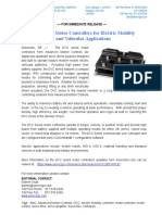 DVC Series Motor Controller New Product Press Release