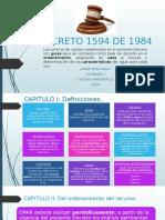 Editado Decreto 1594 de 1984