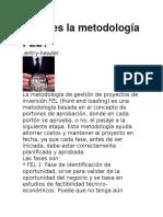 ¿Qué es la metodología FEL