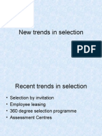 New Trends in Selection