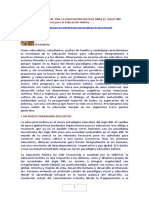 Declaración Mundial Por La Educacion Holista Para El Siglo XXI