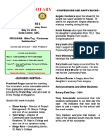 Moraga Rotary Newsletter - May 17, 2016