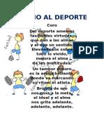 Himno Al Deporte