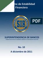 Informe de Estabilidad Financiera No 10 SIBG
