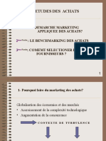Démarche Marketing Achats ,Benchmarking,Selection Frs