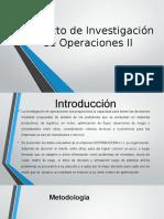 Proyecto de Investigación de Operaciones II