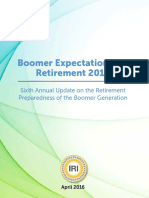 Boomer Expectations for Retirement 2016