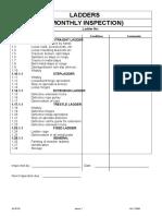 Ladder 6 Monthly Inspection Checklist