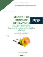 Manual de Operaciones del Restaurante Healthy Fast Food