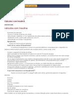 Cálculos Com Insulina __ FARMACOLOGIA