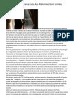 Les Progrès En France Liés Aux Réformes Sont Limités, Selon L'UE