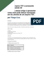 Chasrp - Escrever Em Txt