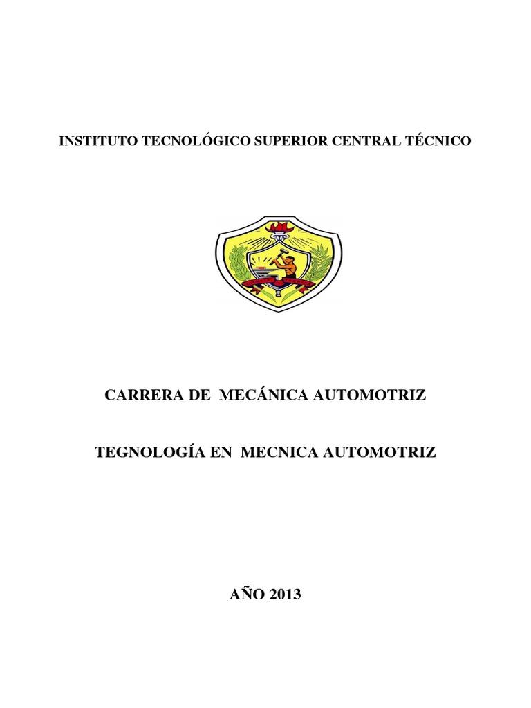 Instituto Tecnologico Superior Central Tecnico Carrera Mecanica ...