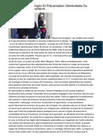 Inefficace Pour L'emploi Et Précarisation Généralisée Du Travail Et Des Travailleurs