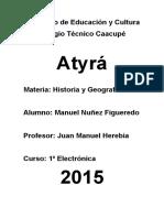 Historia de la ciudad de Atyra