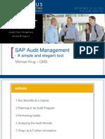 0508 SAP Audit Management a Simple and Elegant Tool
