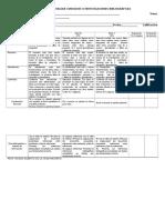 Rubrica Para Evaluar Consultas o Investigaciones Bibliográficas