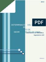 Determinación Del Régimen de Flujo en Un Canal y Conocimiento de Elementos Geométricos de Un Canal