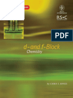 C. Jones - D- And F-block Chemistry (1a. Ed.)