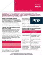 84527 Cambridge Pre u Guide for Higher Education Admissions Staff in the Uk