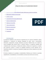 Ingeniero Industrial y Enfoque Sistemas Mantenimiento Industrial