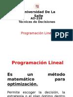 Programacion Lineal - Introduccion