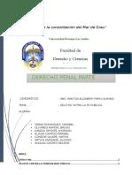 Trabajo Delitos Contra La Fe Publica (1) Indice