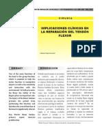 Reparacion Del Tendon Flexor