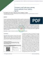 Hemodialysis Performance and Outcomes Among