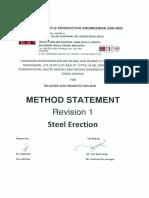 Method Statement Steel Eretion Rev 1 (1)