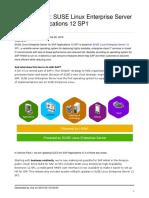 SUSE Linux Enterprise Server for  Applications 12 SP1