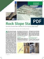 Rock Slope Stability - Quarry Management-April 2015