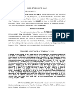 Deed of Absolute Ssale 2013 Land 2222