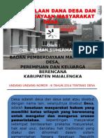 Pengelolaan Dana Desa dan Pemberdayaan Masyarakat Desa.pptx