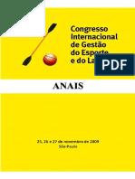 ANAIS - 3 Congresso de Gestão Do Esporte 2009