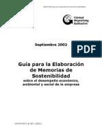 GRI español Guía para la Elaboración de memorias de sostenibilidad