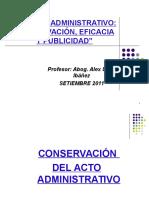 El Acto Administrativo - Conservación y Eficacia