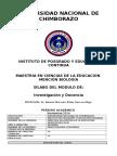SILABO Investigación y Docencia