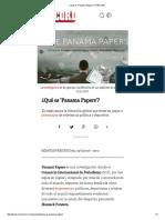¿Qué Es 'Panama Papers'_ _ RÉCORD