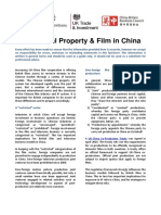 IP and Film in China Factsheet - April 2016