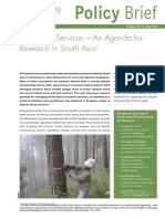Policy Brief on Ecosystem services
