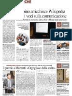 Urbino arricchisce Wikipedia di sei voci sulla comunicazione digitale - Il Resto del Carlino del 19 maggio 2016