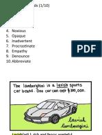 0.Vocabulary Words 100