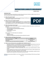Airport Contractors Liability Pds