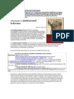 Derecho Constitucional Boliviano