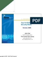 Top 10 OS400 Security Risks