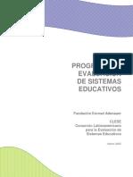 Programa de evaluación de los Sistemas Educativos